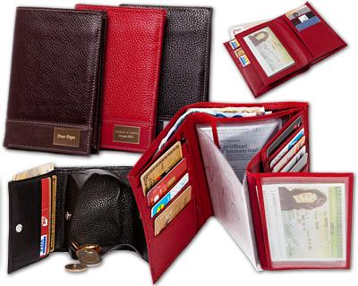 Les Porte-monnaies Portefeuilles en cuir personnalis - m