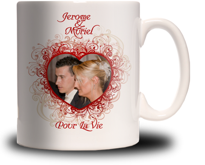 mug photo saint valentin personnalis cadeau personnalis et id e cadeau original. Black Bedroom Furniture Sets. Home Design Ideas